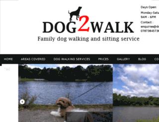 dog2walk.co.uk screenshot