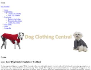 dogclothingcentral.com screenshot