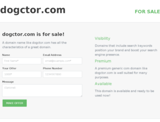 dogctor.com screenshot