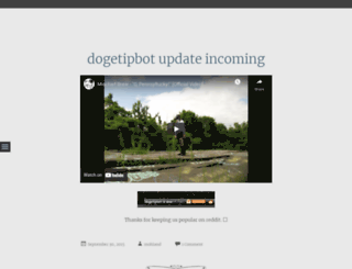 dogetipbot.wordpress.com screenshot