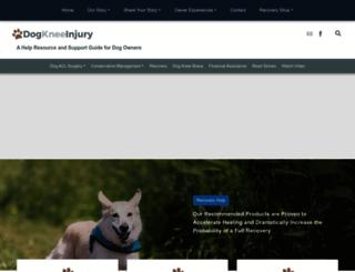 dogkneeinjury.com screenshot