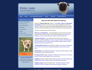 doglaw.hugpug.com screenshot
