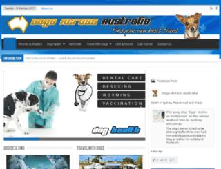 dogsacrossaustralia.com screenshot