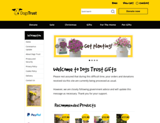 dogstrustgifts.com screenshot