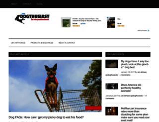 dogthusiast.com screenshot