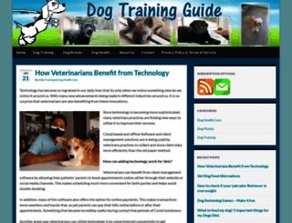 dogtrainingguide.org screenshot
