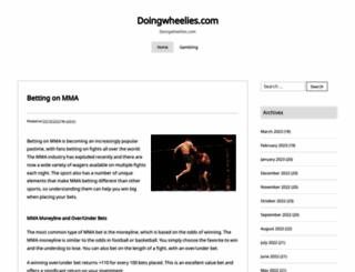 doingwheelies.com screenshot