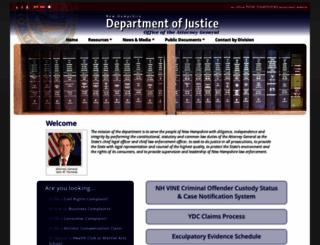 doj.nh.gov screenshot