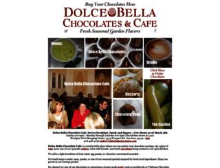 dolcebellachocolates.com screenshot