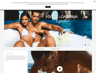 dolcegabbanalightblue.com screenshot