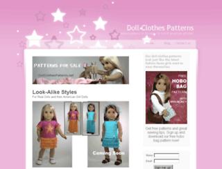 dollclothespatterns.net screenshot