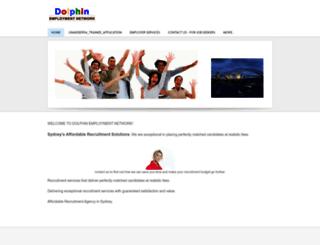 dolphinemployment.net screenshot