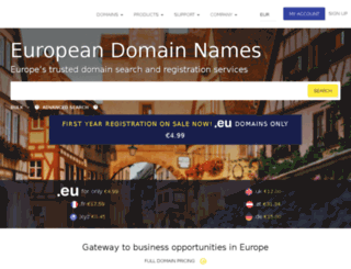 domain-check.europeregistry.com screenshot