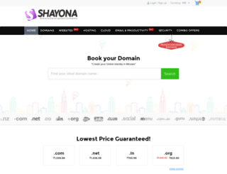 domain.shayona.biz screenshot
