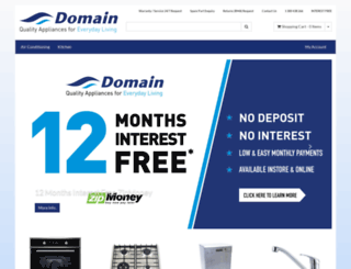 domainappliances.com.au screenshot