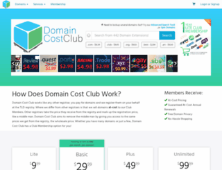 domaincostclub.com screenshot