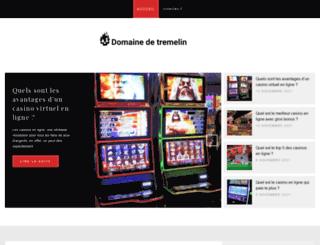 domaine-de-tremelin.fr screenshot