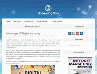 domainingdiva.com screenshot