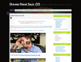 domainnamesales.co screenshot