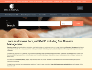domains.com.au screenshot