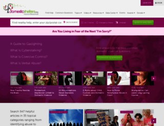 domesticshelters.org screenshot