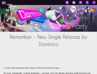 dominicoartist.com screenshot