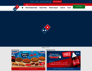 dominos.com.sg screenshot