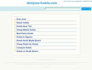 domjose-hotels.com screenshot