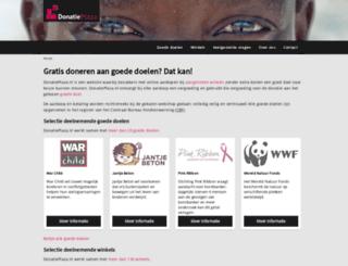 donatieplaza.nl screenshot