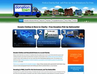donationdropoff.org screenshot
