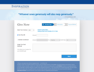 donations.inspiration.org screenshot