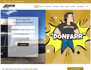 donfarrmoving.com screenshot