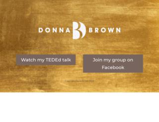 donnabrown.com screenshot