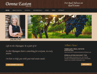 donnaeaston.com screenshot