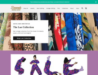 donnasdressshop.com screenshot
