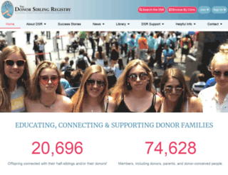donorsiblingregistry.com screenshot