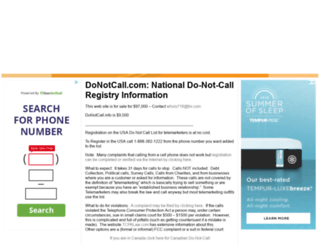 donotcall.com screenshot