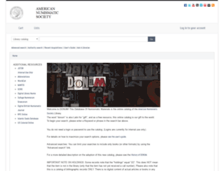 donum.numismatics.org screenshot