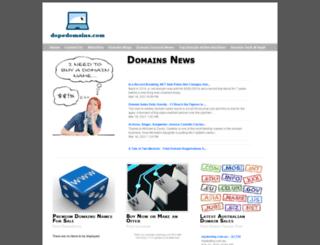 dopedomains.com screenshot