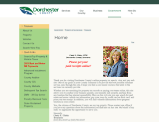 dorchestercountytaxesonline.com screenshot