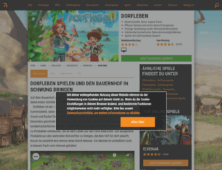 dorfleben.browsergames.de screenshot
