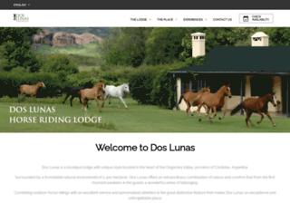 doslunas.com.ar screenshot