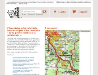 dossiersinventaire.regionpaca.fr screenshot