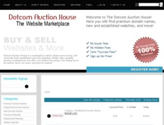dotcomauctionhouse.com screenshot