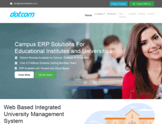 dotcominfotech.co.in screenshot