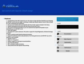 dotnetopenauth.net screenshot