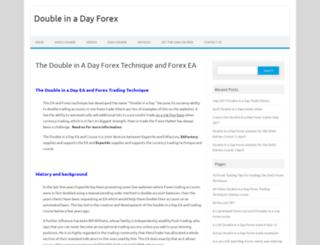 doubleinadayforex.com screenshot