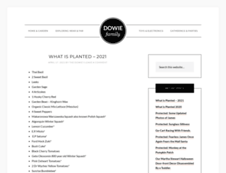 dowiefamily.com screenshot