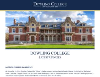 dowling.edu screenshot