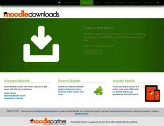download.moodle.org screenshot